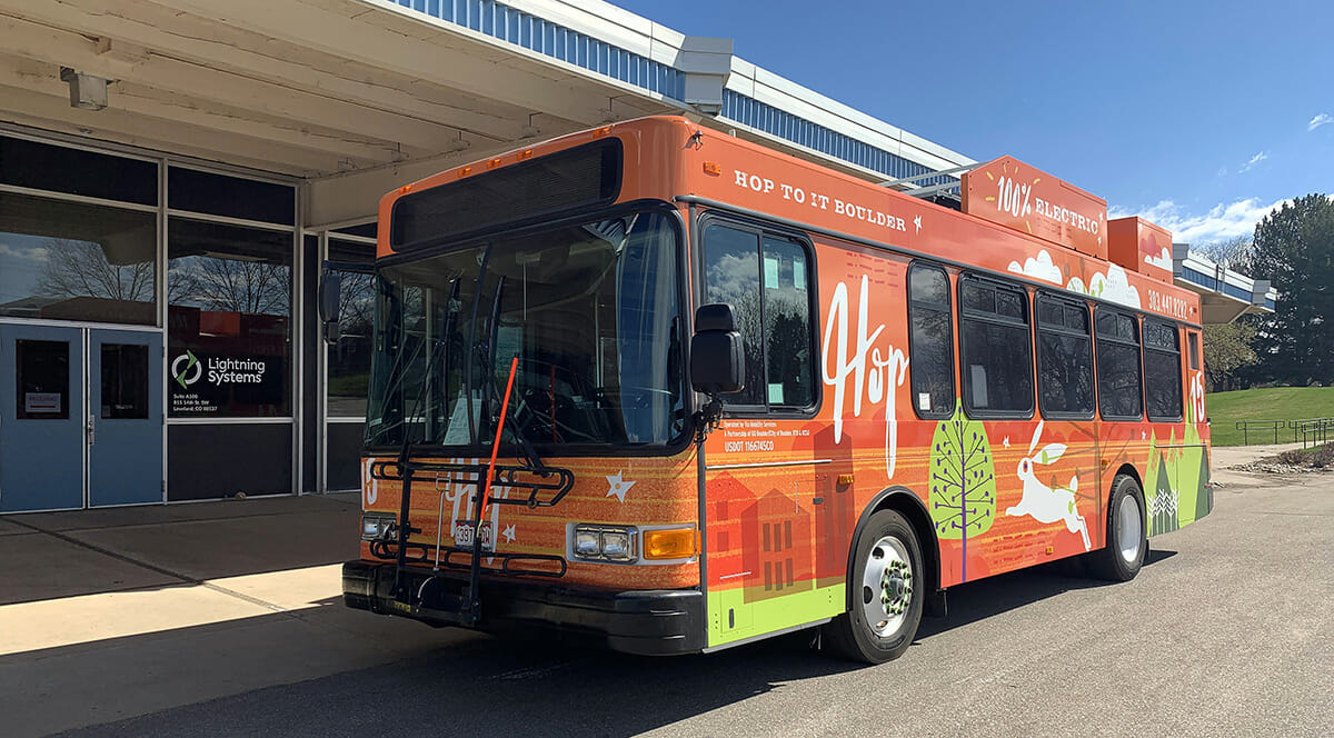 Lightning Electric Repowered Gillig bus
