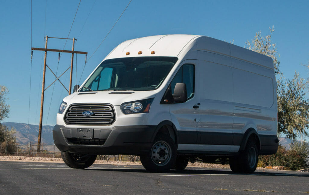 Electric Ford Transit 350HD cargo van