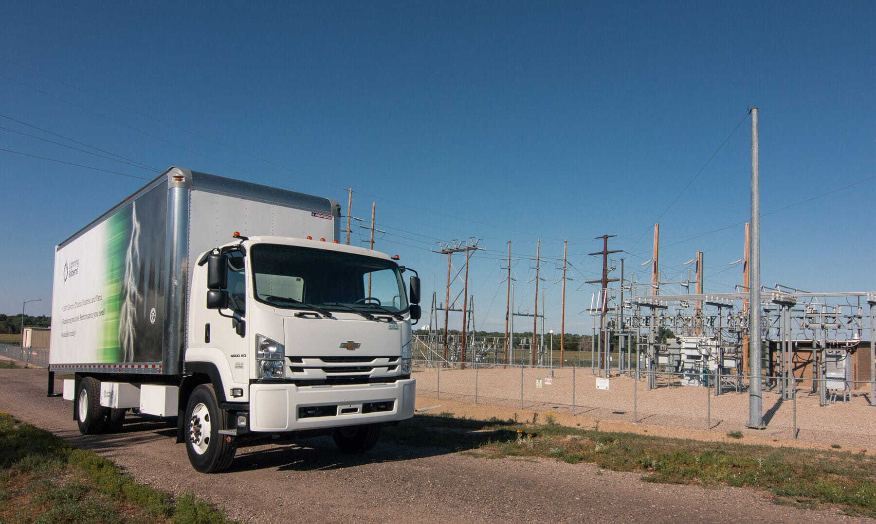 LS GM6500 by an electric substation
