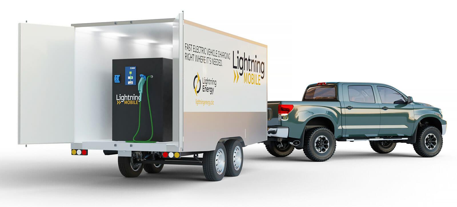 Lightning Mobile installed in a trailer