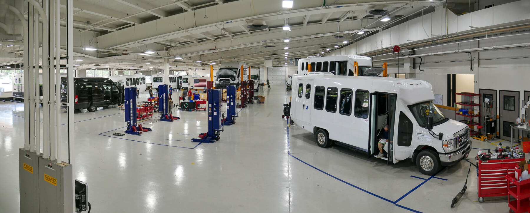 Lightning Systems vehicle production floor