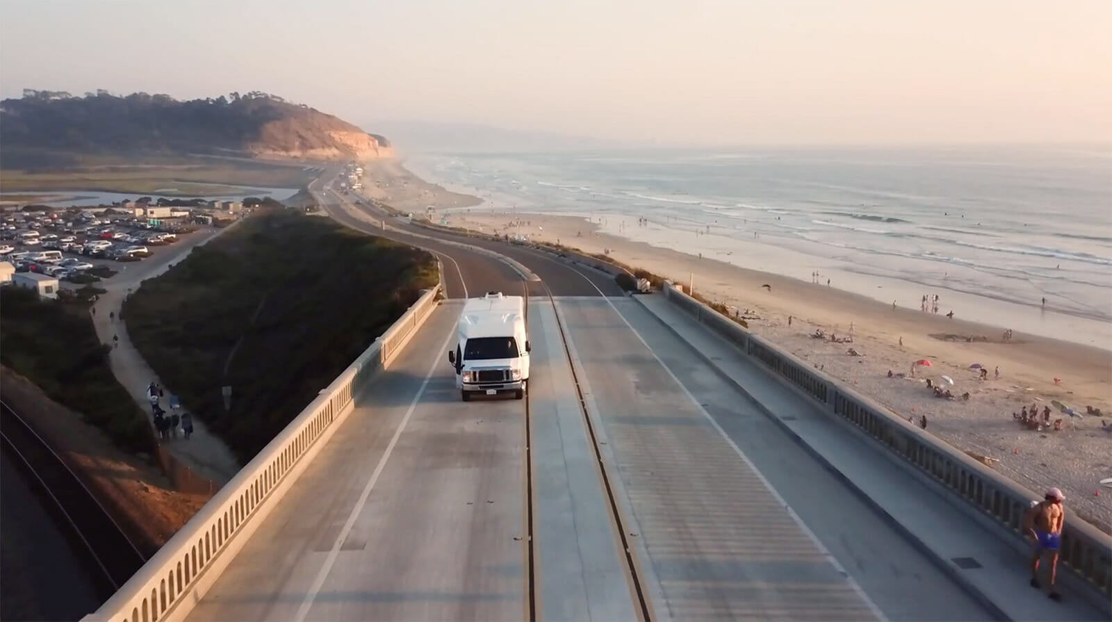 Lightning Electric E-450 on the road in California