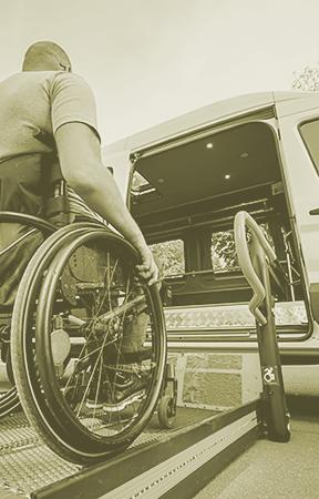 Wheelchair access for shuttle bus