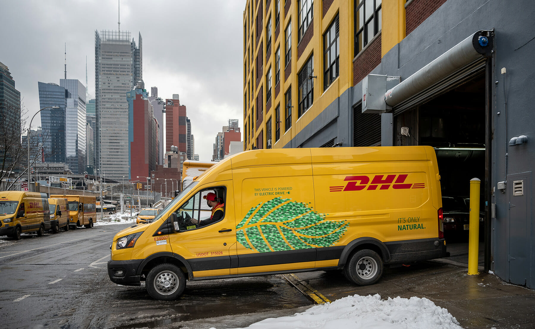 Lightning Electric delivery van operated by DHL in Manhattan