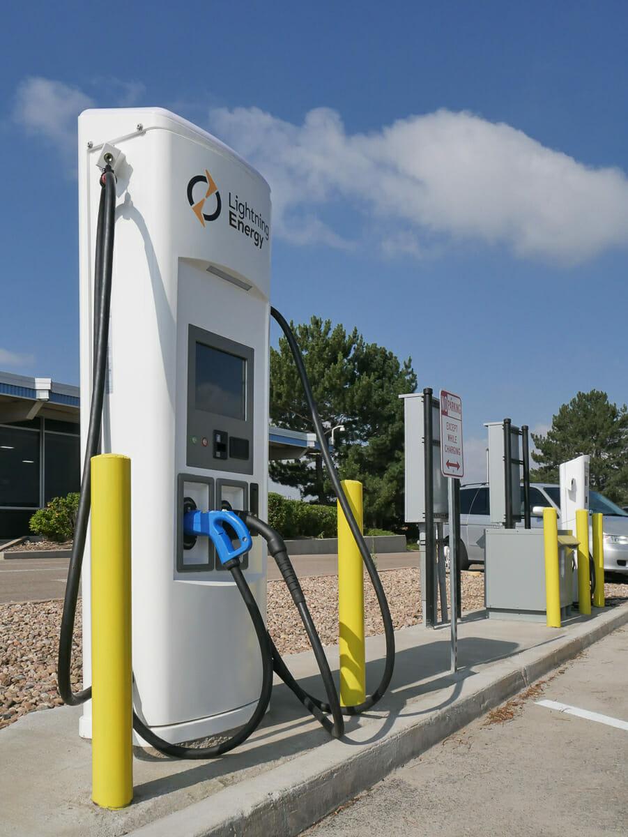 Lightning eMotors charging stations
